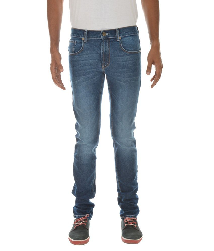 London Jeans Blue Slim Fit Stretchable Jeans
