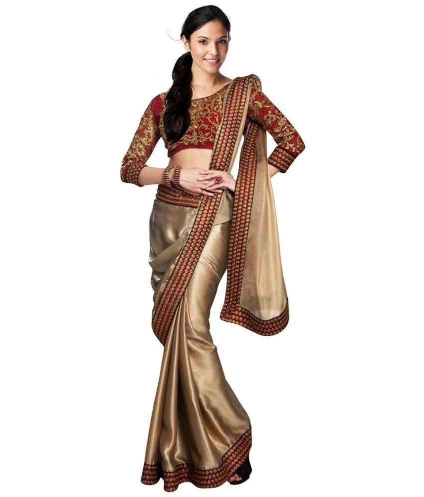 6b90257ccc67b3 Shakti Gold Silk Saree - Buy Shakti Gold Silk Saree Online at Low Price -  Snapdeal.com
