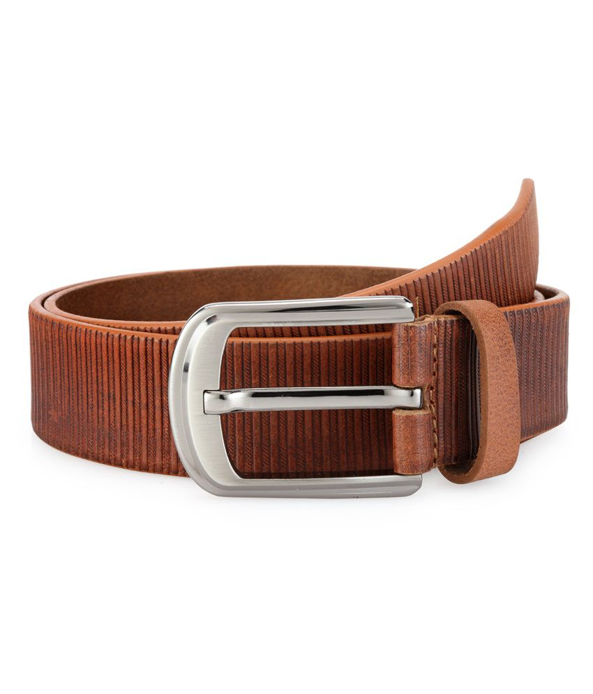Teakwood Brown Leather Belt For Men
