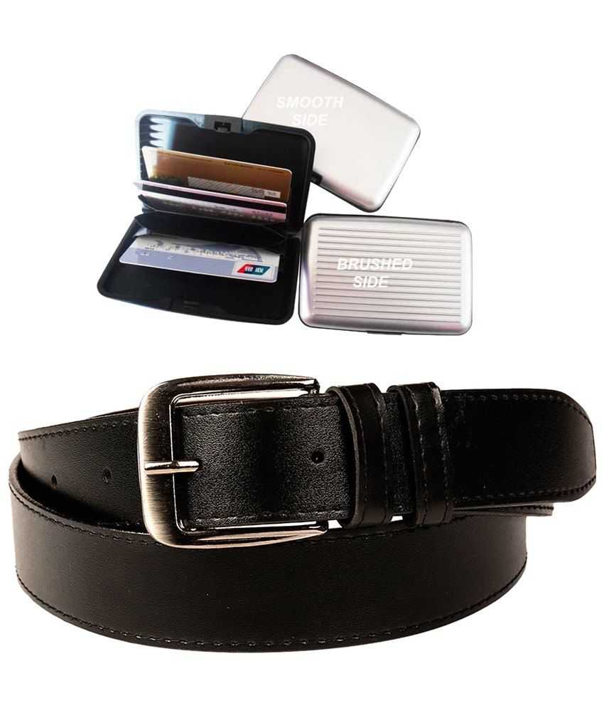 Fedrigo Combo of Black Belt and Card Holder
