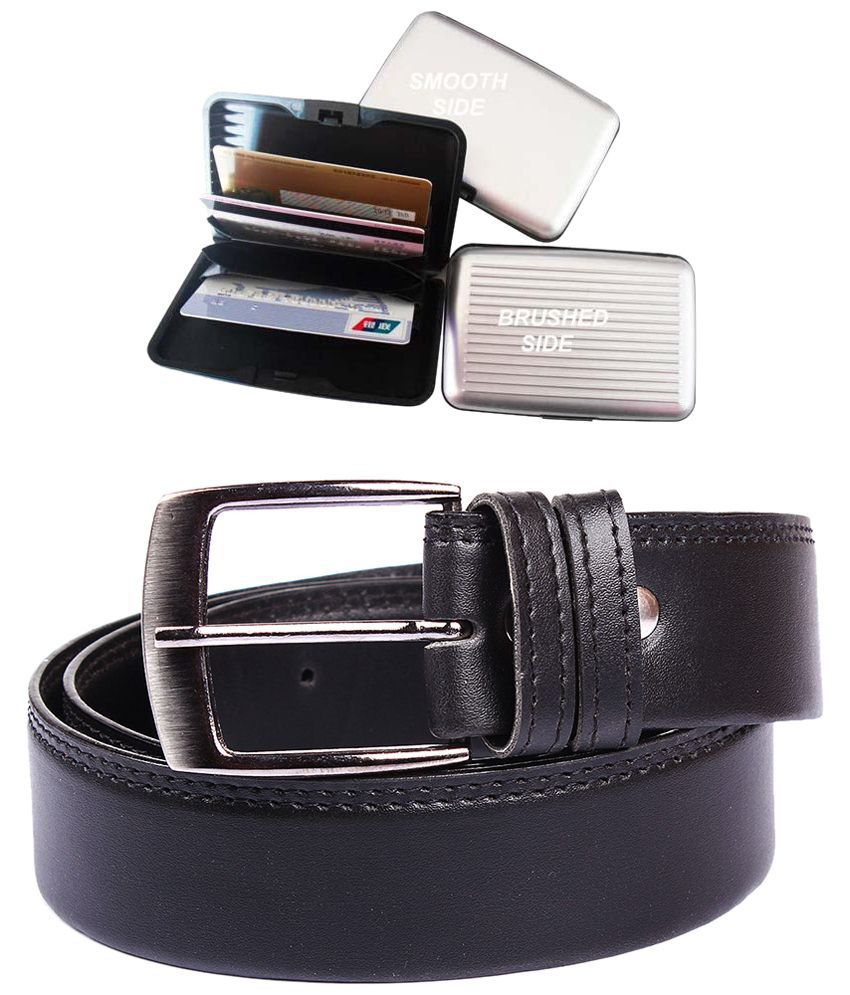 Fedrigo Black Belt for Men with Card Holder