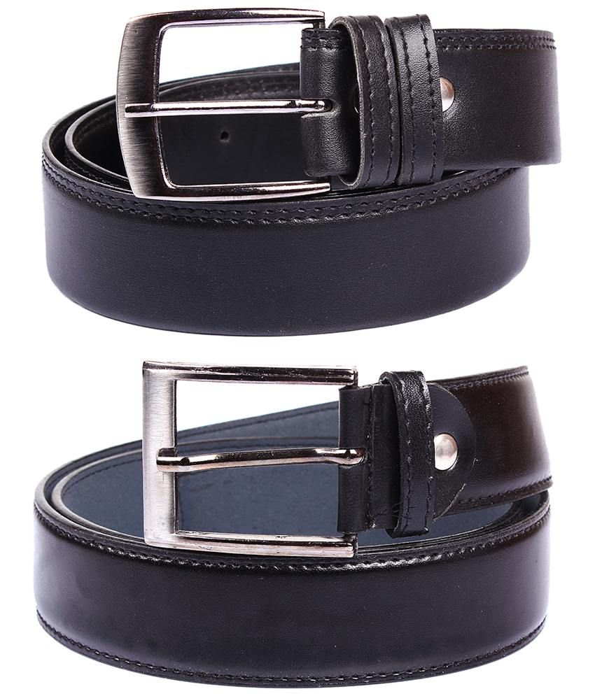 Fedrigo Pack Of 2 Black Pin Buckle Belts