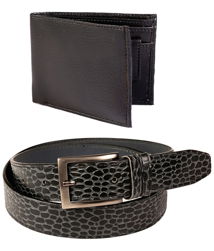 Fedrigo Set Of Black Pin Buckle Belt & Wallet