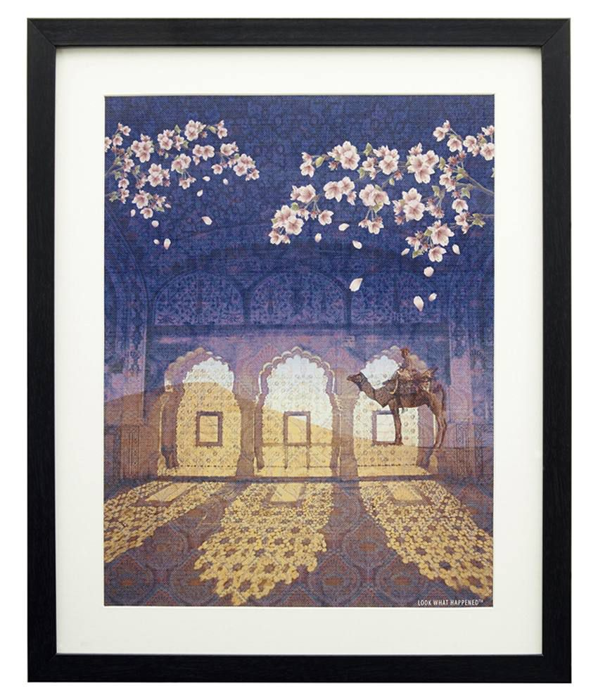 Look What Happen Rajasthan Revisted Painting With Frame