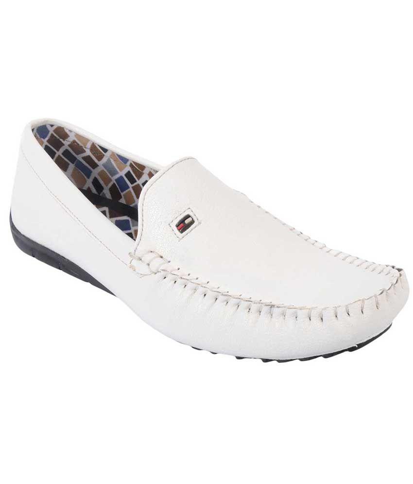 Metmo White Loafers