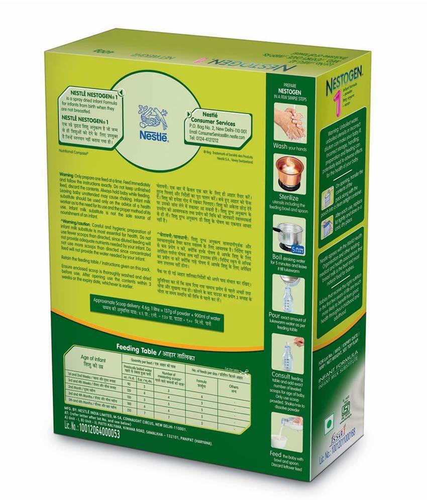 Nestle Nestogen 1 Infant Formula Upto 6 Months 400g