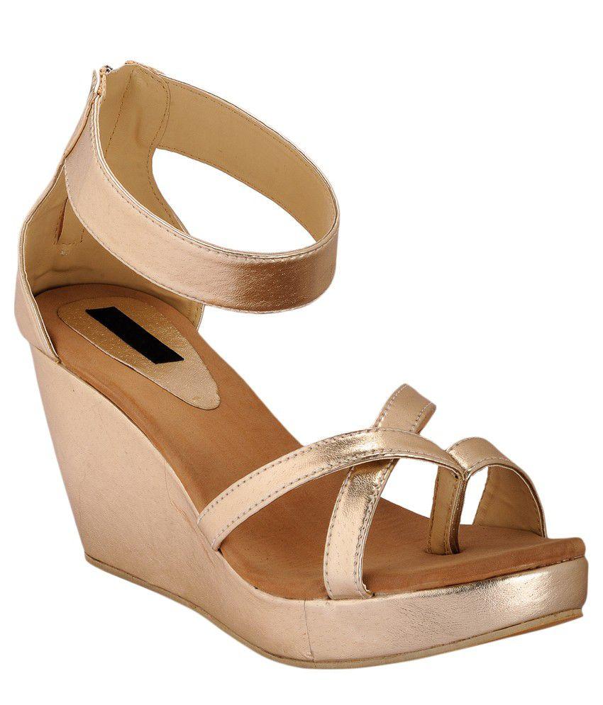 Something Different Brown Wedge Heels