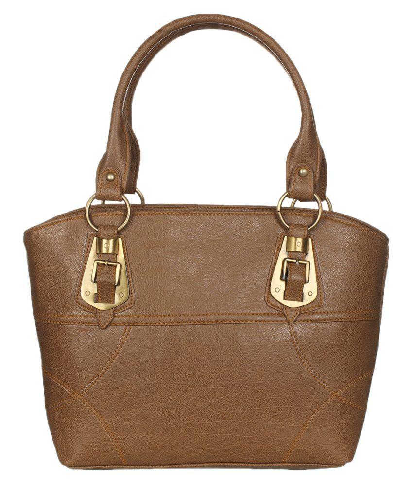 Alibao Beige P.U. Shoulder Bags