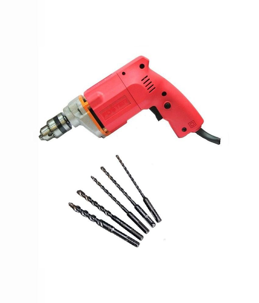 Foster FPD-010A 10mm Drill Machine (With 5 Drill Bits)