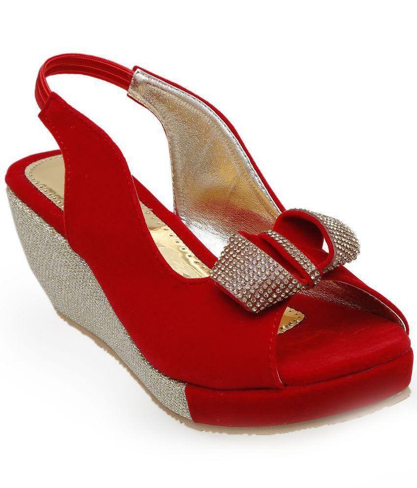 CATBIRD Red Wedge Heels