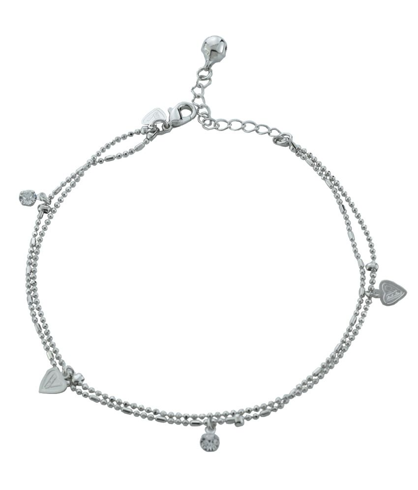 High Trendz Silver Alloy Anklets