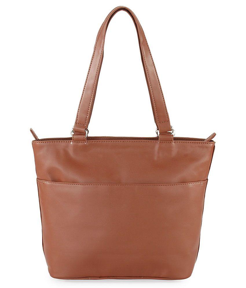 Lady World Brown Pu Shoulder Bag