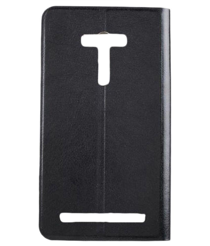 TOPQ Flip Cover for Asus Zenfone 2 Laser ZE550KL - Black