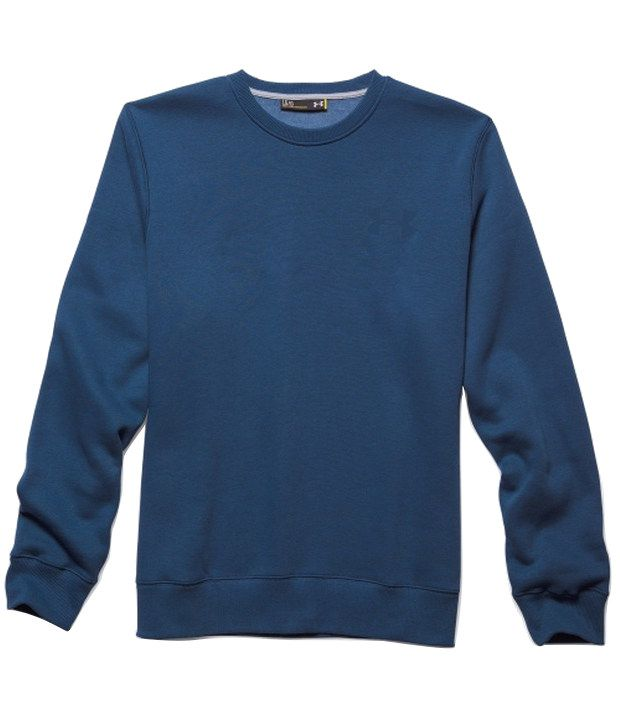Under Armour Grey and Blue Men's Rival Fleece Crewneck Sweatshirt (Pack of 2)