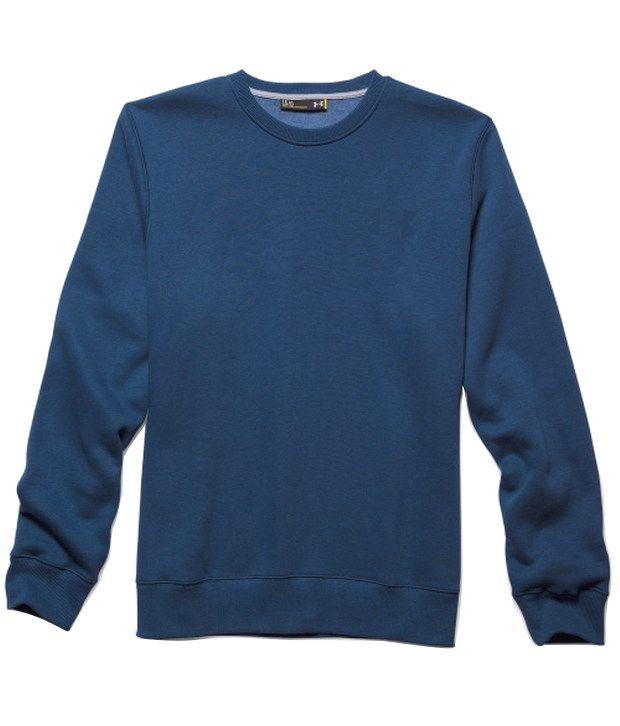 Under Armour Grey and Blue Men's Rival Fleece Crewneck Sweatshirt (Pack of 2)