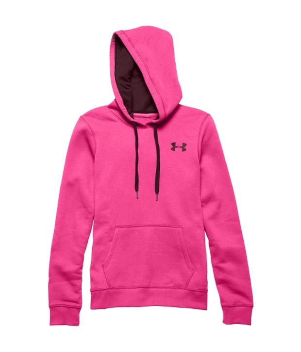 Under Armour Pink Women's Rival Fleece Pullover Hoodie