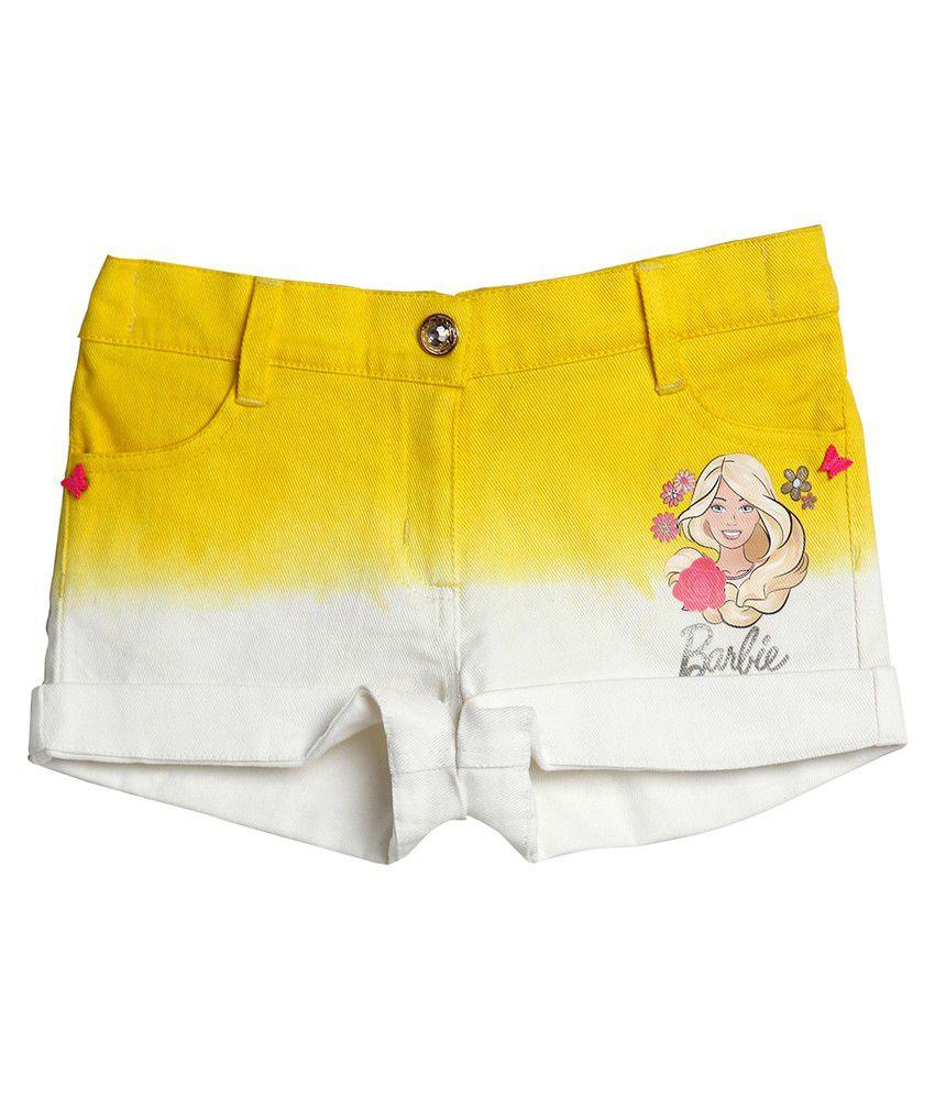Barbie Yellow Shorts