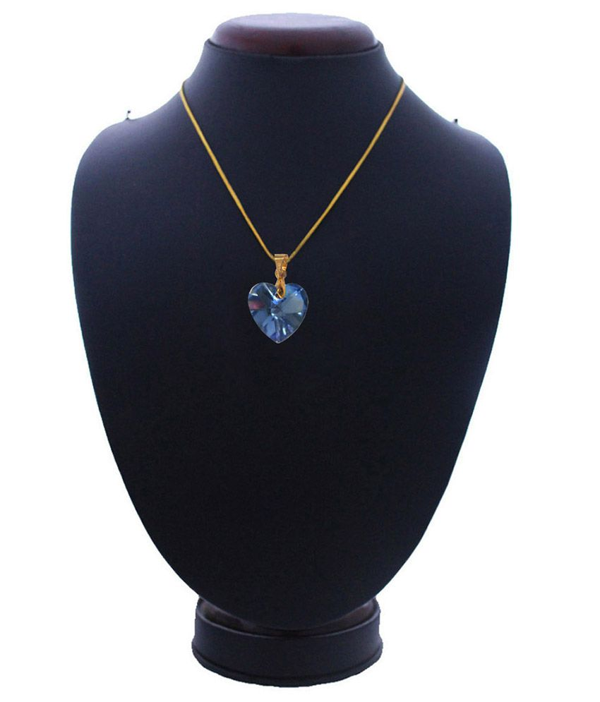 Mens Jewell Blue Alloy Pendant