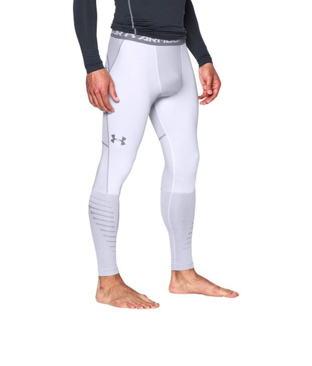 Under Armour Under Armour Men's Coldgear Infrared Armour Compression Leggings White/steel