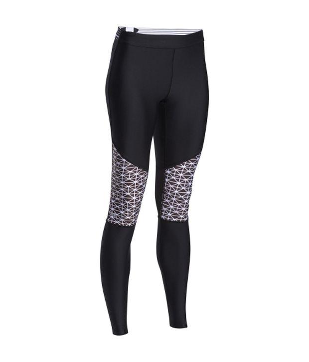 Under Armour Under Armour Women's Heatgear Armour Print Inset Leggings Black/veneer