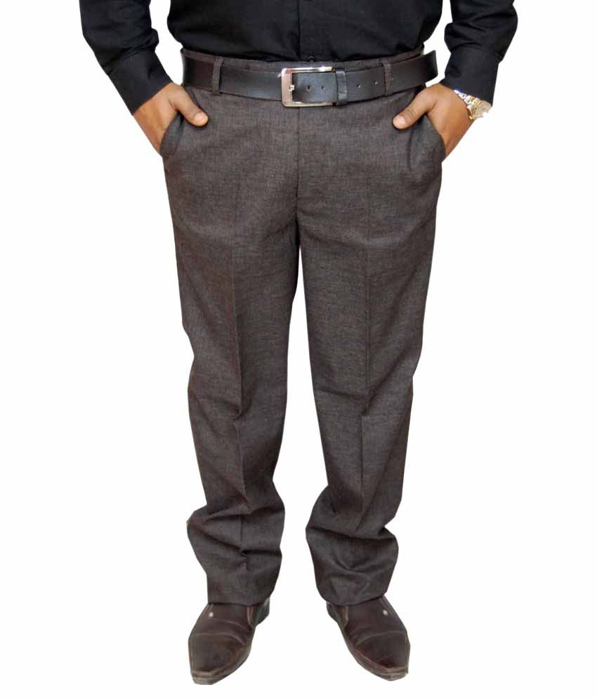 Fabulous Brown Regular Fit Formal Trouser
