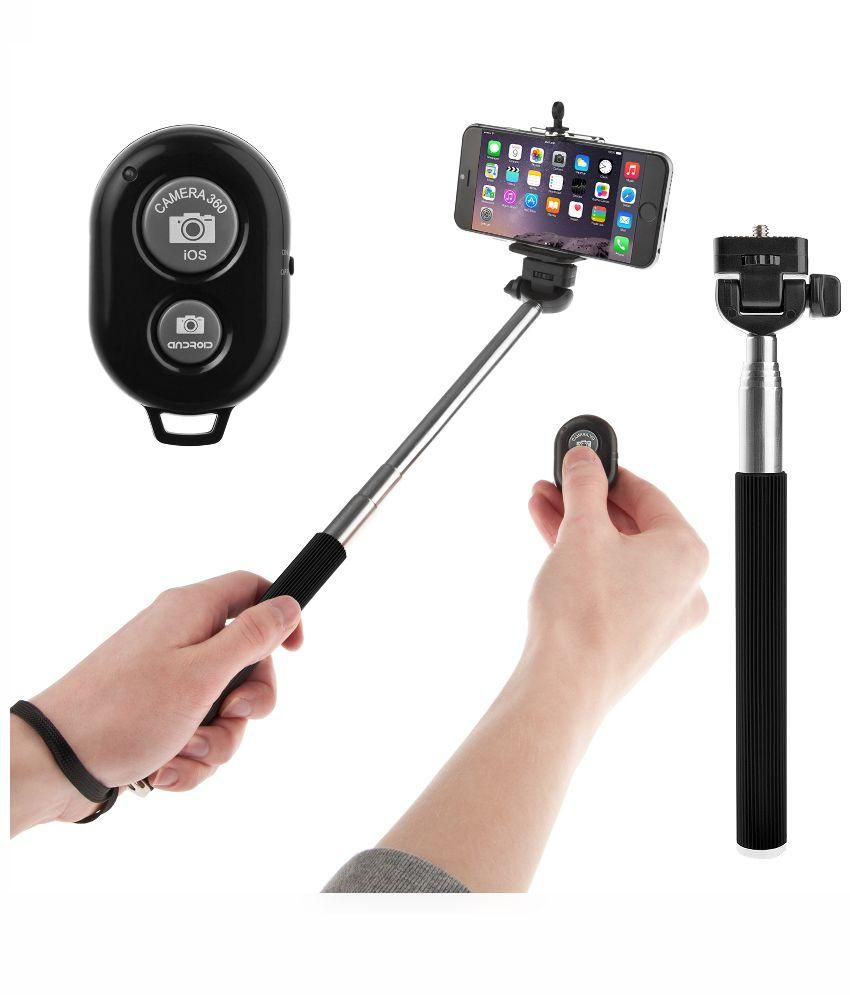 totu bluetooth remote monopod selfie stick multicolor selfie sticks accessories online at. Black Bedroom Furniture Sets. Home Design Ideas