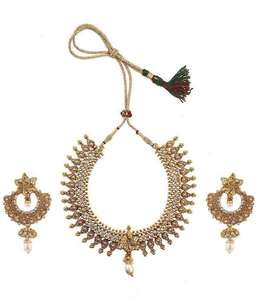 Antique Designer Gold Plated Necklace Set