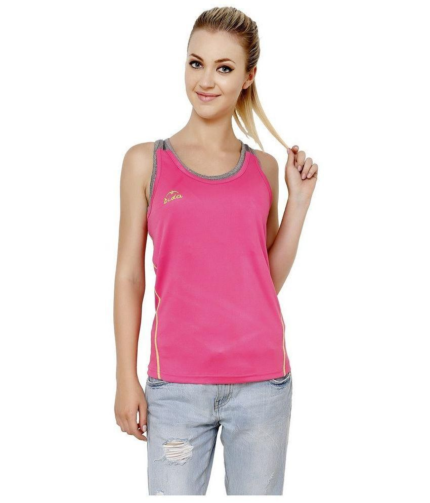 Dida Pink and Grey Tank Top