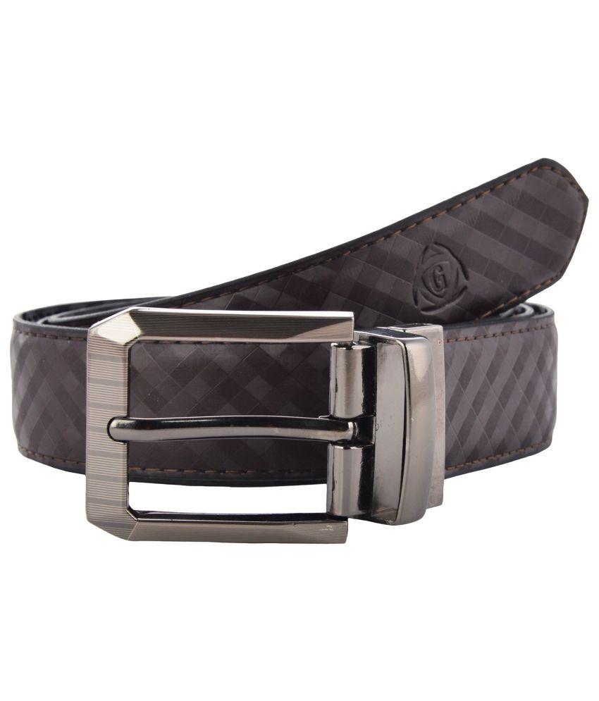 Garvan Black Leather Formal Reversible Belt For Men