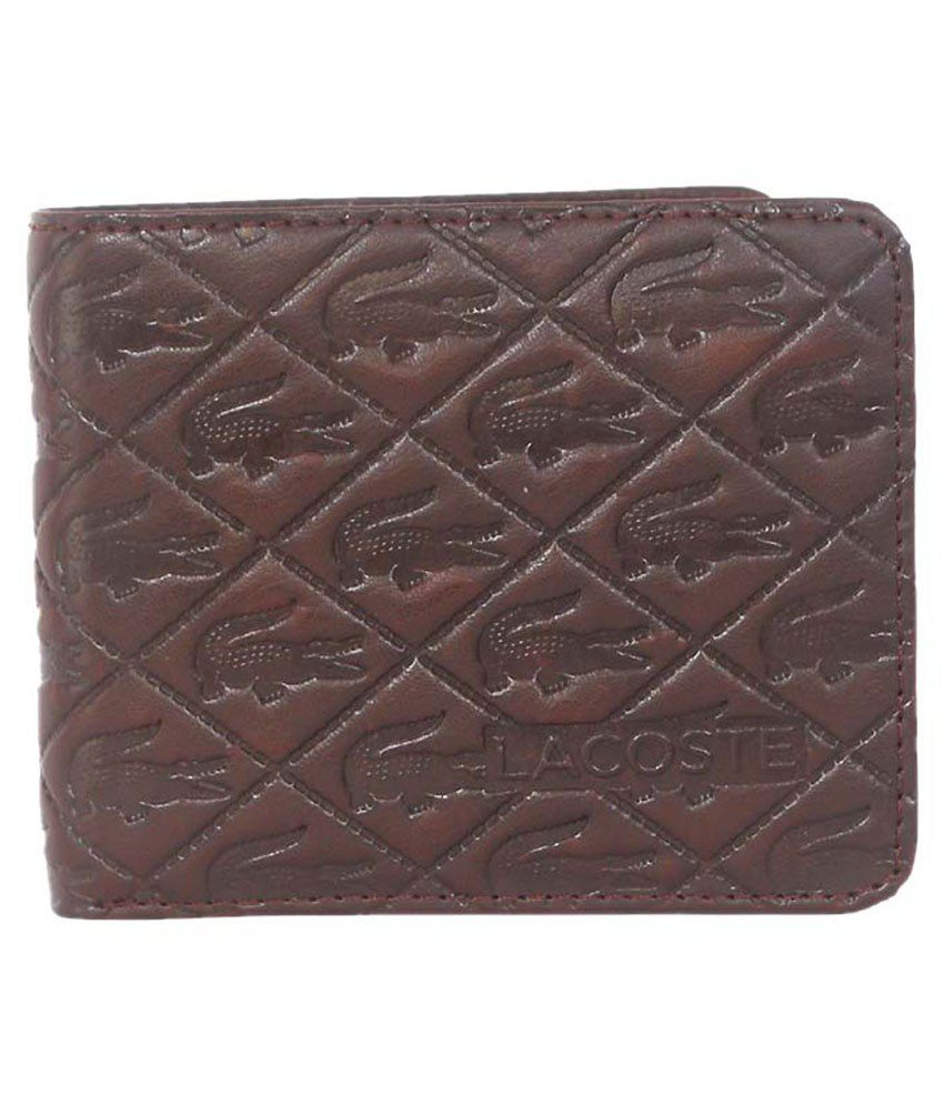 3eef7e972d1 Lacoste Brown Leather Regular Wallet: Buy Online at Low Price in India -  Snapdeal
