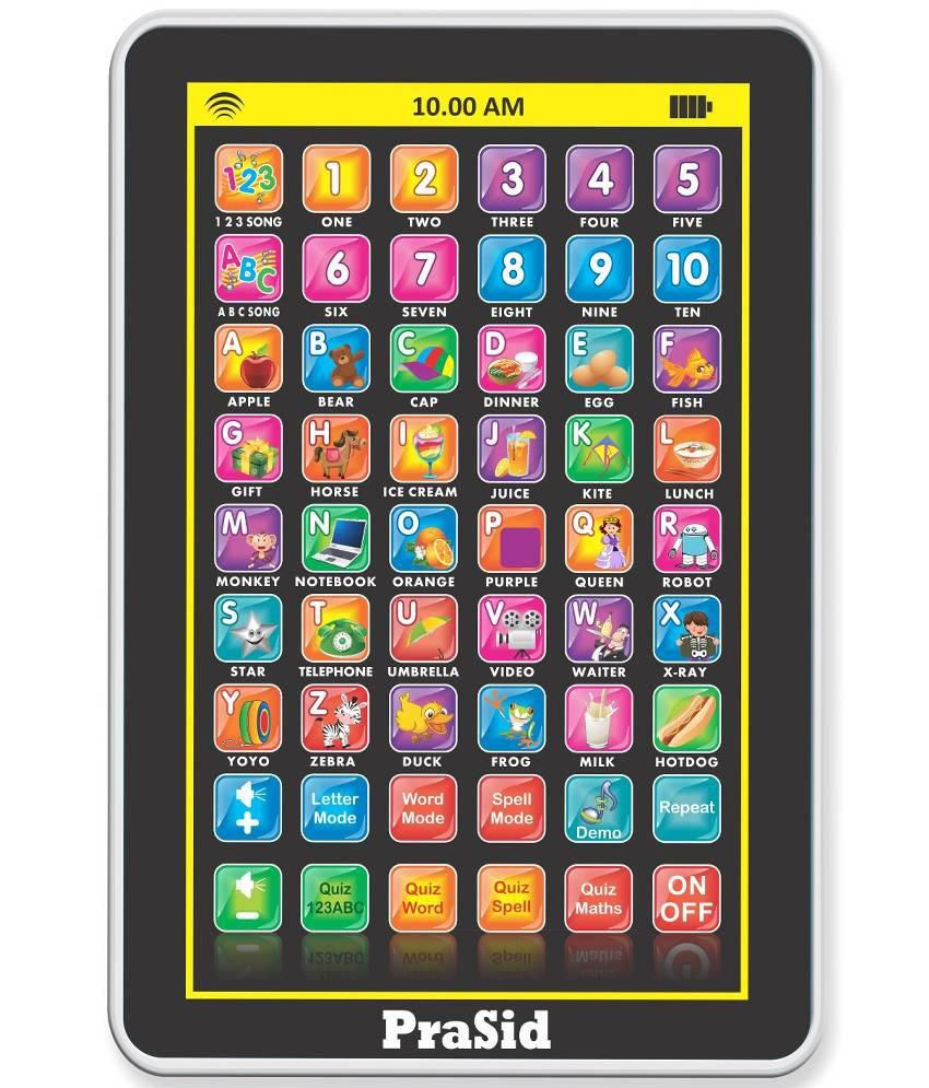 Prasid Multicolour My Pad Mini English Learning Tablet for Kids Indian Voice