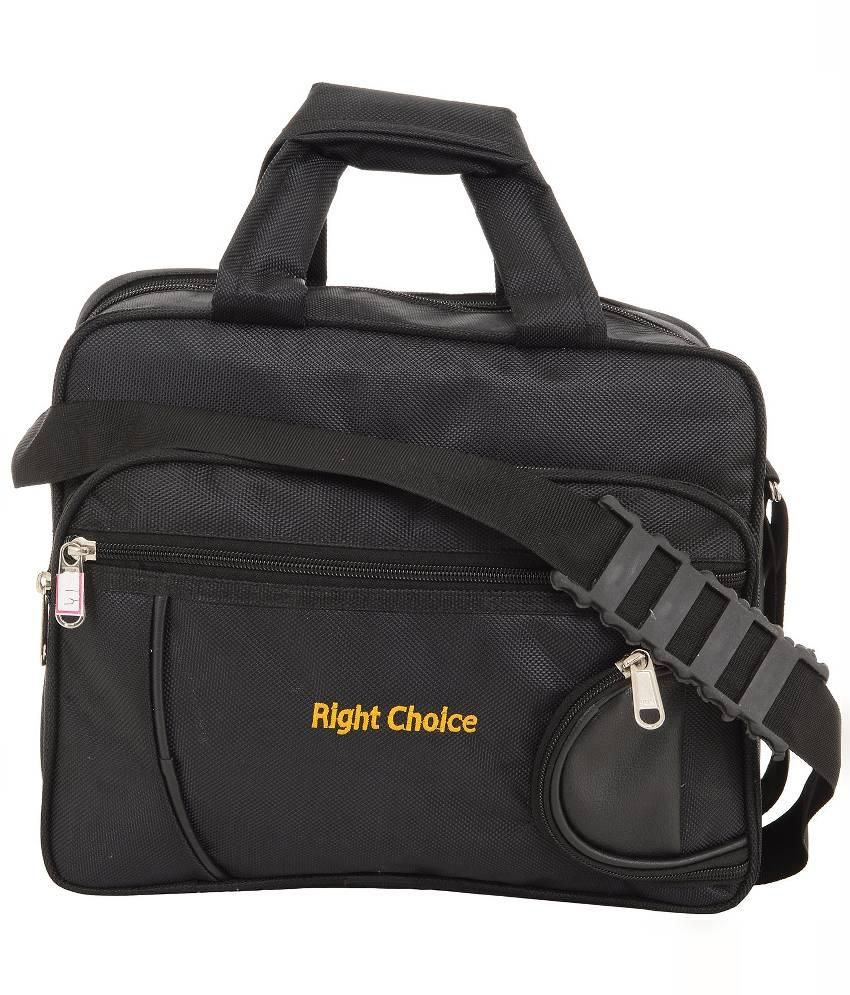 Right Choice Black Laptop Bags