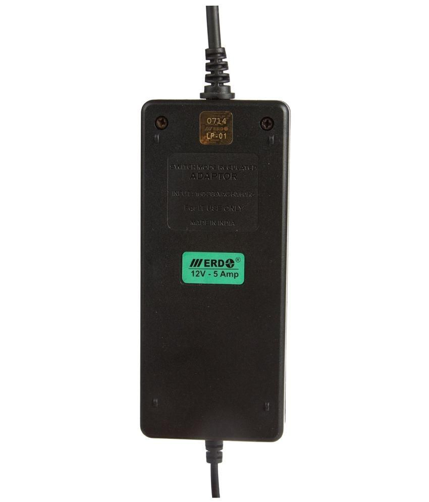 ERD Multi Purpose SMPS 12V 5A Adaptor - Black