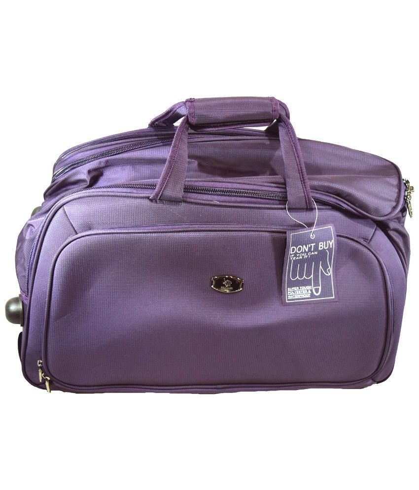 Polo House USA Purple Nylon Teflon TRavel Bags - Buy Polo House ...