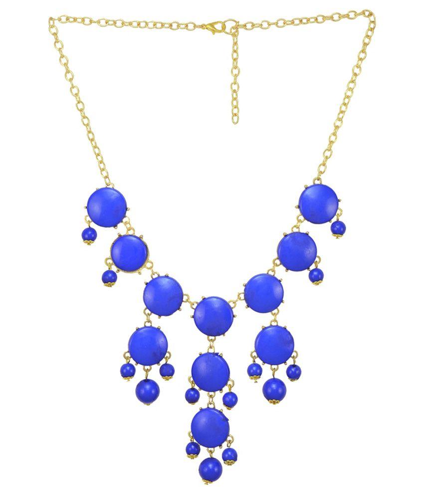 The Pari Blue Alloy Necklace