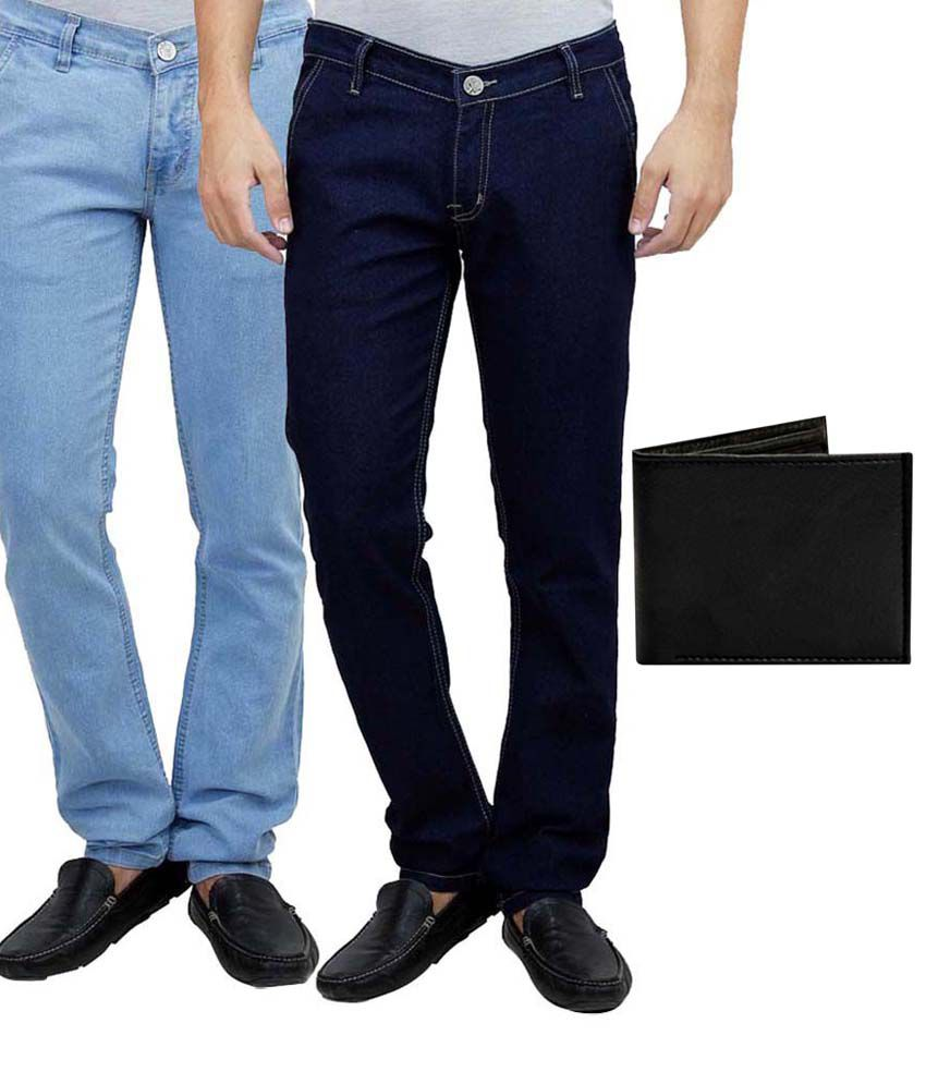 Ansh Fashion Wear Combo Of 2 Blue Regular Fit Jeans
