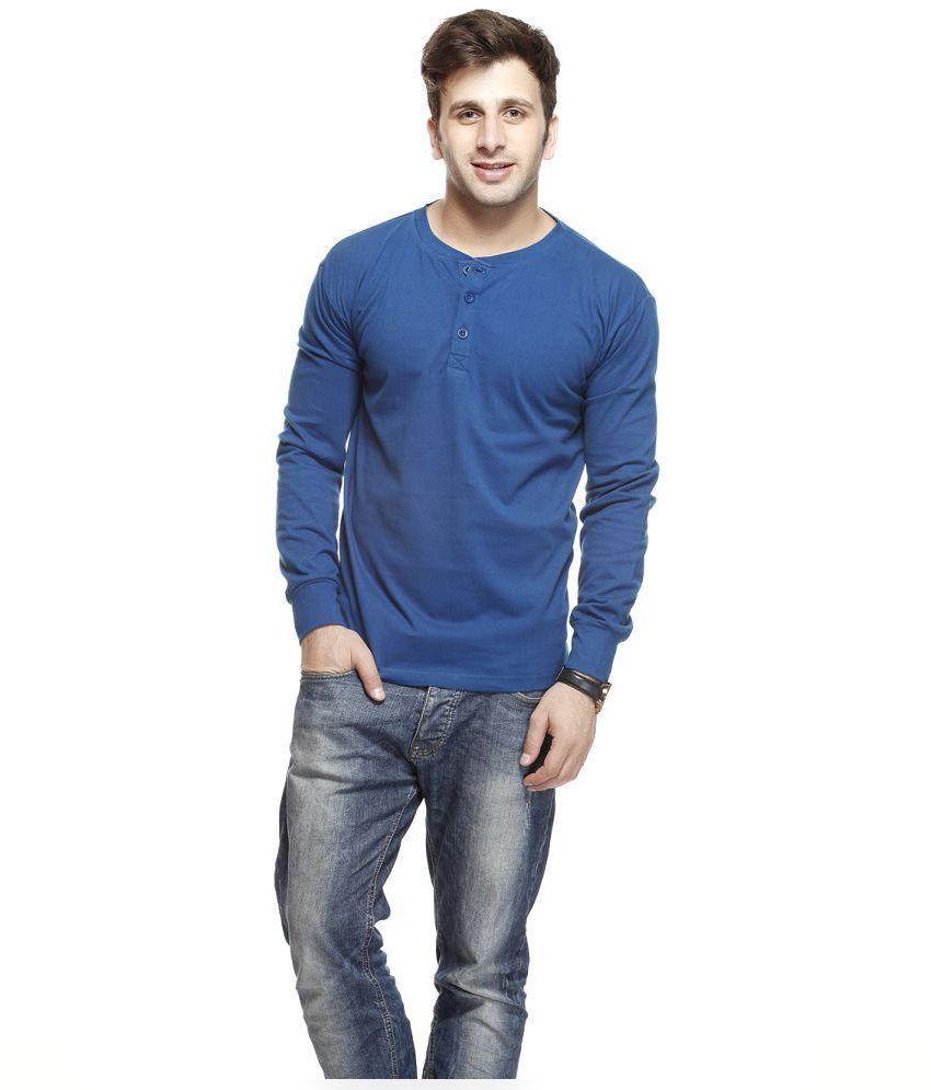 Gritstones Blue Cotton T-Shirt