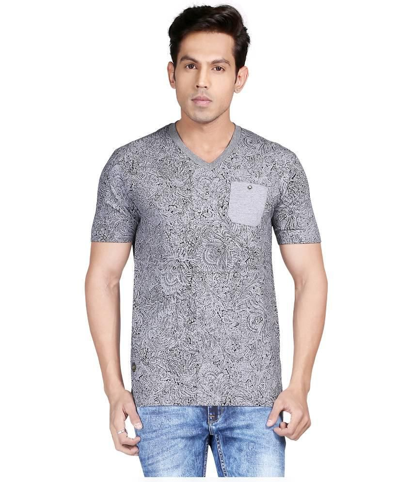 Glabrous Grey Cotton T-Shirt