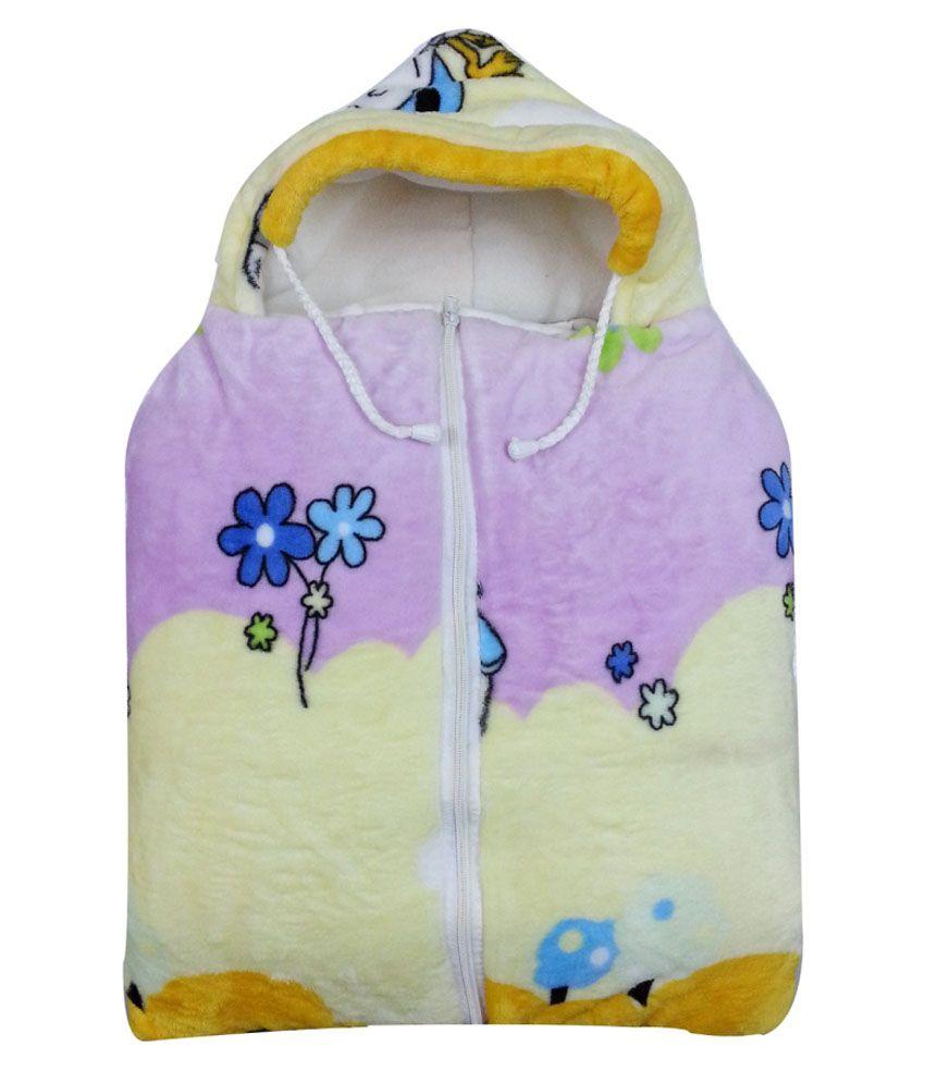 Cute Baby Pink And Yellow Baby Sleeping Bag