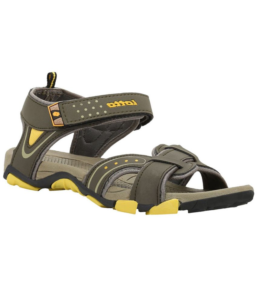 b51fd7477e13 Lotto Olive Yellow Men Sandals - Buy Lotto Olive Yellow Men Sandals Online  at Best Prices in India on Snapdeal