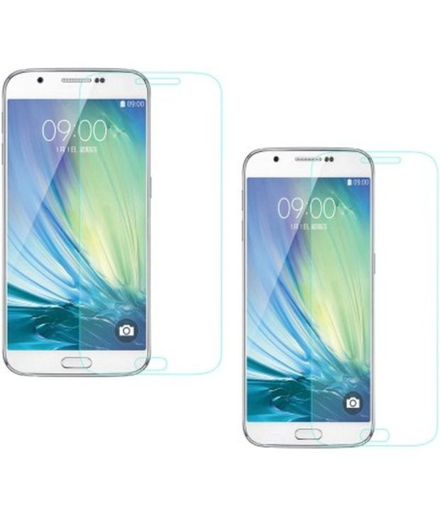 Mobizoid SGA7TGABC9P2 Tempered Glasses for Samsung Galaxy A7 SM-A700F (Pack of 2)