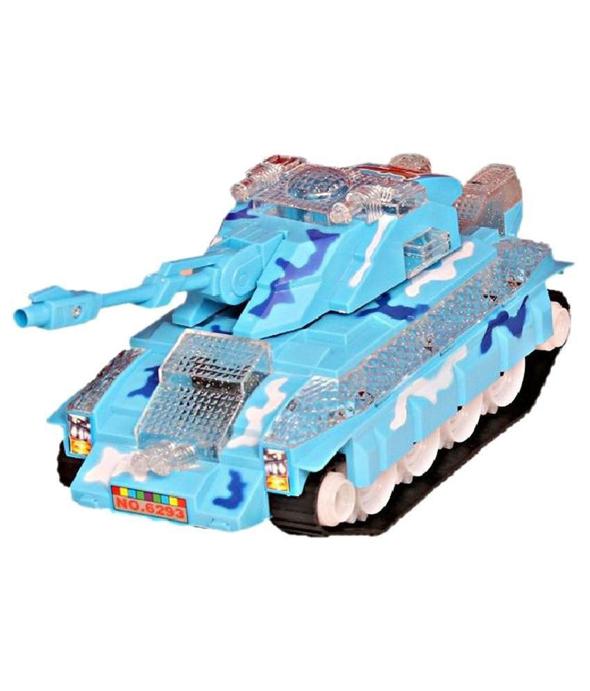 Neha Blue Plastic Armoured Battle Tank