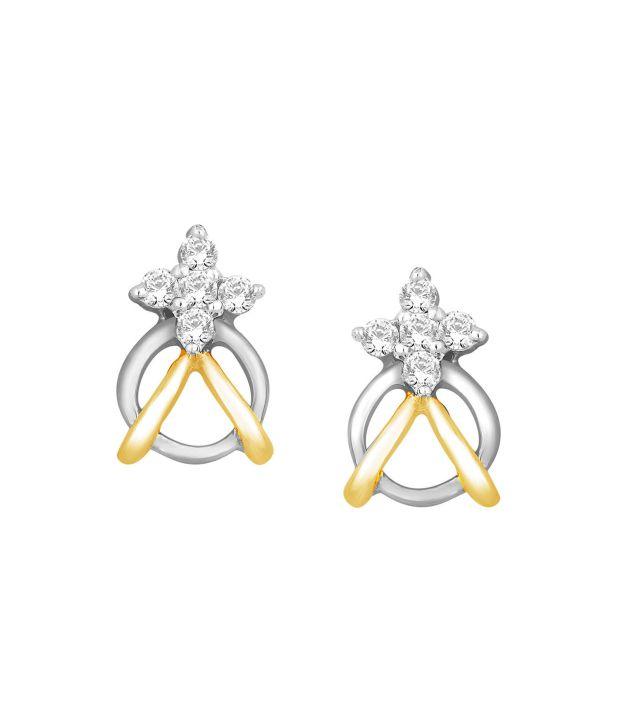 Shuddhi Sangini 18kt Gold Diamond Studs