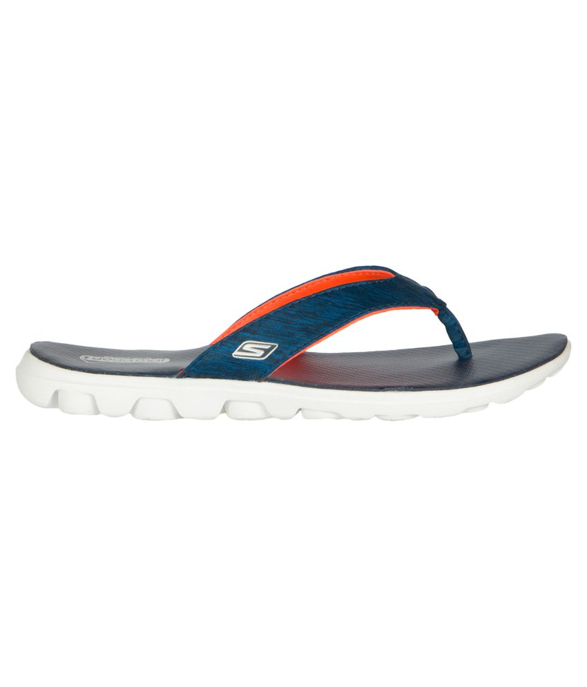 0717443126d7 Skechers On The Go Flow Navy Slippers Price in India- Buy Skechers ...