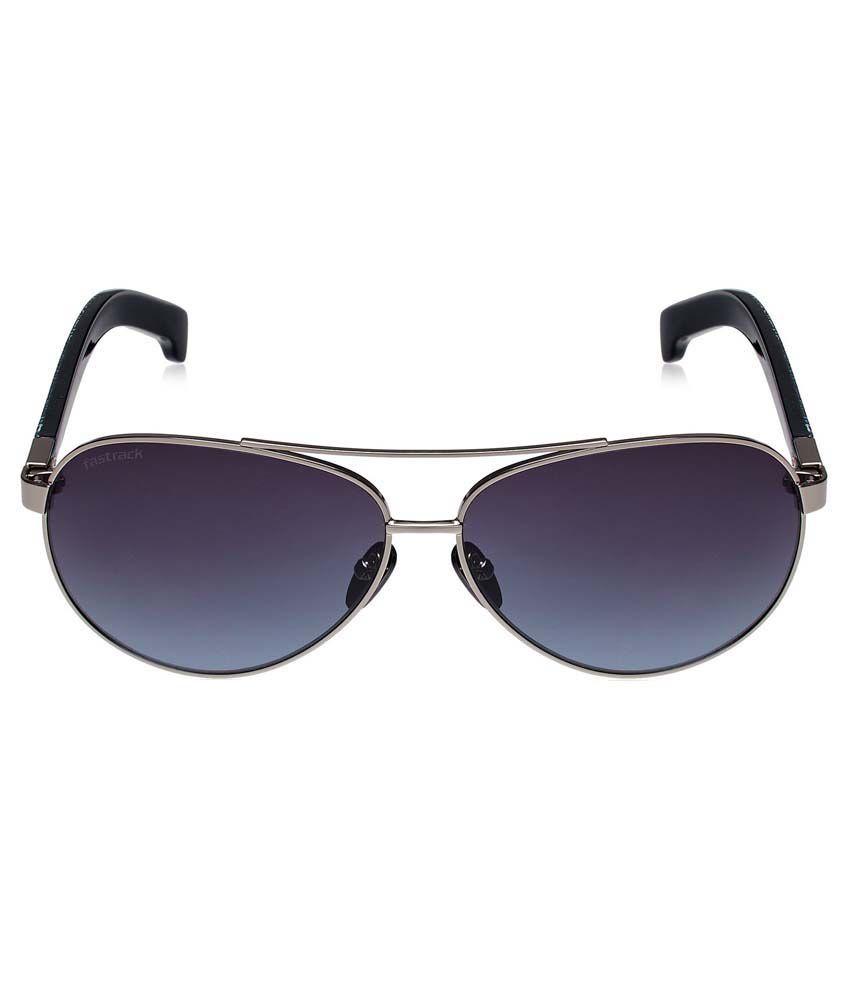 aviator sunglasses mens  Fastrack M134bk2 Blue Aviator Sunglasses For Men