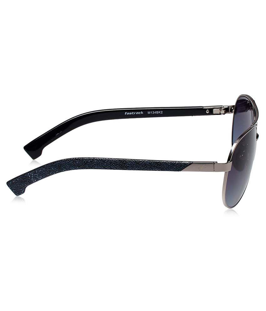 mens black aviator sunglasses upzm  Fastrack M134bk2 Blue Aviator Sunglasses For Men