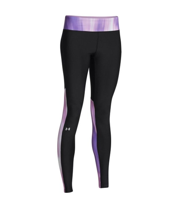 Under Armour Under Armour Black And Purple Womens Heat Gear Alpha Pants