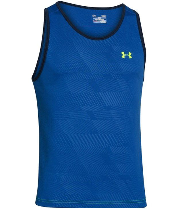 Under Armour Under Armour Blue And Grey Mens Ua Tech Sleeveless Mens Tanks (pack Of 2)
