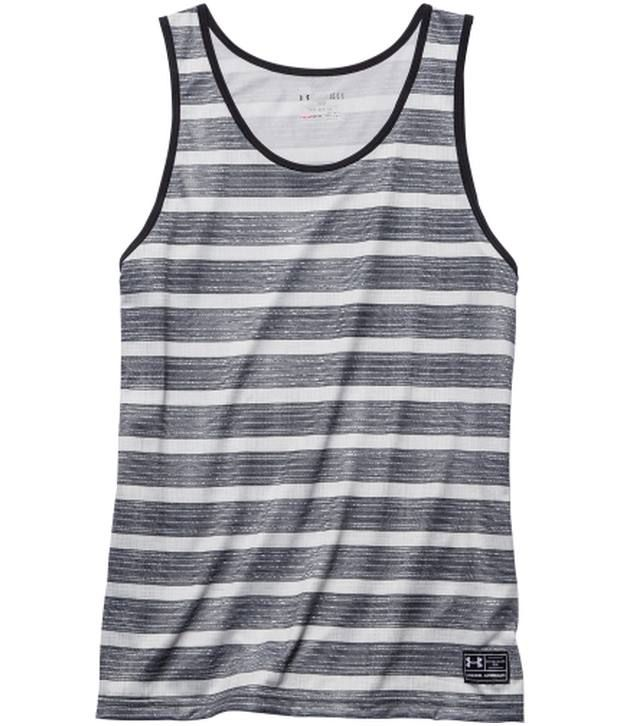 Under Armour Under Armour Grey Mens Bender Graphic Sleeveless Tank