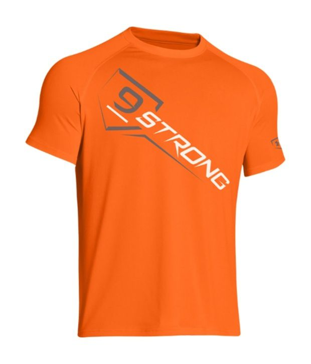Under Armour Under Armour Orange Mens 9 Strong Graphic T-shirt